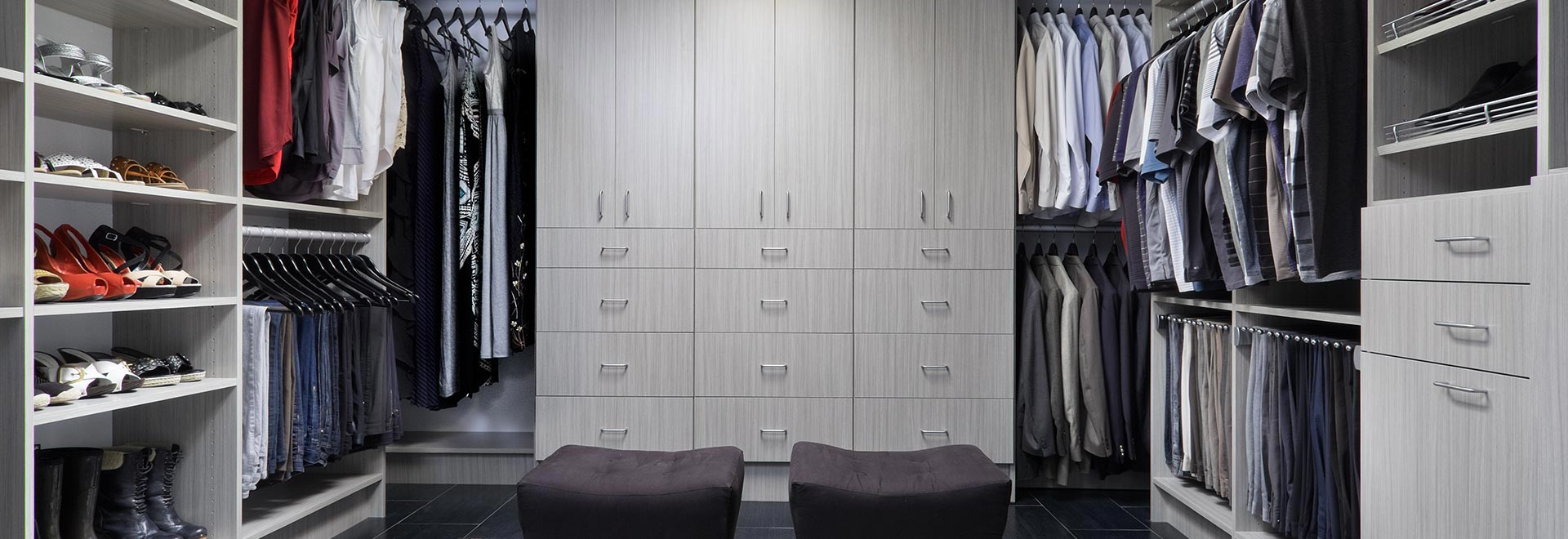 Flat Panel Concrete Custom Closet