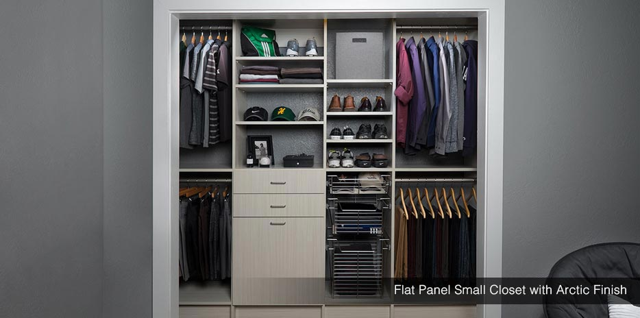 Small Closet Design small closet design & storage | reach-in closet solutions | new jersey