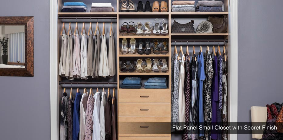 Small closet design storage reach in closet solutions for Storage solutions for small closets