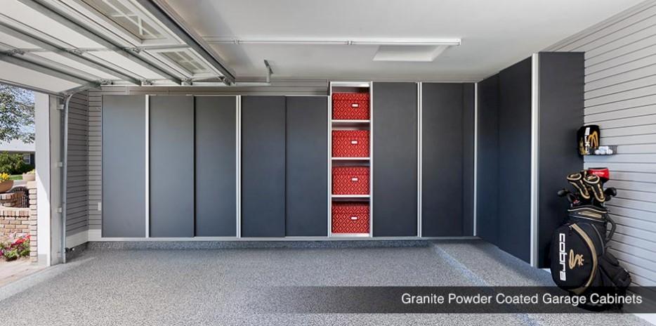 Windswept Bronze Metallic Garage Cabinets Granite Powder Coated Gargae  Cabinets ...