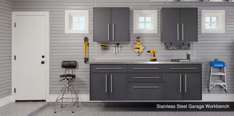 Stainless Steel Garage Workbench