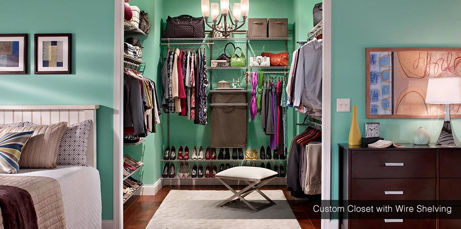 Closet With Wire Shelving