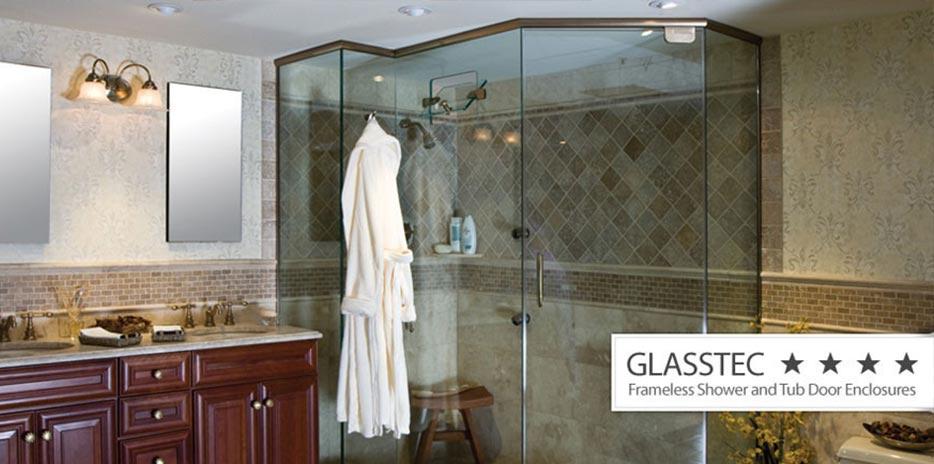 custom glass shower doors | decorative, frameless & more | new jersey