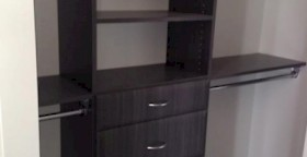Licorice Finish Custom Closet Organizers